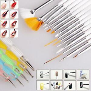 20pcs Nail Art Design Gel Painting Dotting Pen & Brush Set Manicure Pedicure Set
