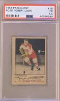 1951 1952 PARKHURST Ross Robert Lowe PSA 1.5 FR #18 HOCKEY Montreal Canadiens