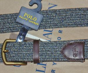 NWT Polo belt-choos Gray braided XL or Red-Grn tartan 40-1/2 PRICE-Free shipping