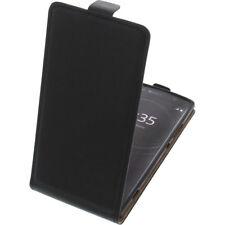 BOLSA para Sony Xperia XA2 Funda protectora Teléfono Móvil con tapa NEGRA