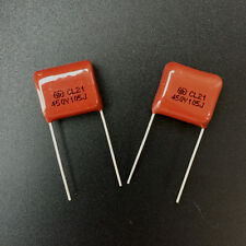 5PCS CL21 105J 450V 1UF 1000NF P15 Metallized Film Capacitor