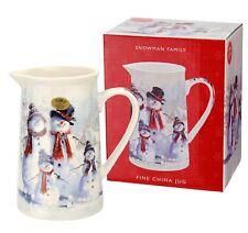 SNOWMAN FAMILY JUG Fine China GIFT BOX Secret Santa Coffee Tea Choc Xmas BNIB UK