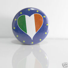 2 Badges Europe [25mm] PIN BACK BUTTON EPINGLE Irlande