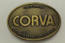 "CORVA ""California Off-Road Vehicle Association"" Brass Belt Buckle."