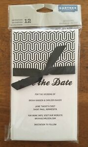 Gartner Studios Save the Date Black and White Bow Set of 12 DIY Classic Wedding