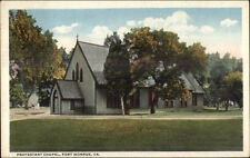 Fort Monroe VA Protestant Chapel c1920 Postcard