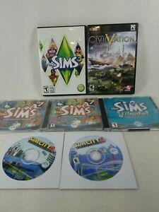 Lot of 6 Windows PC Simulation Games Scratched Untested See Description no codes