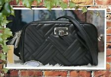 NWT MICHAEL KORS PEYTON SMALL Camera Crossbody Bag In BLACK Quilted Leather