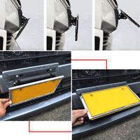 Universal Adjustable Carbon Fiber Number Car Racing License Plate Frame Holder C