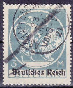 Germany Deutsches Reich 1920 Mi. Nr. 134 PF XVII 3M Bavaria Def Opt USED Geprüft