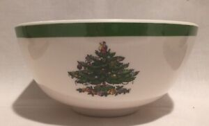 """SPODE Christmas Tree ~ FOUR 6"""" Salad/Cereal Bowls ~ PLASTIC ~ Great for Children"""