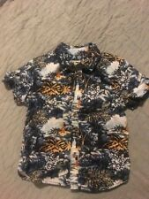 Tucker Tate Boys Hawaiian Button Up Shirt Size 5 100% Cotton