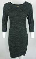 Zara Trafaluc Navy Gray 3/4 Sleeve Women's Viscose Top Tunic Blouse Size:M