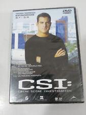 Csi Las Vegas Third Season Episodes 3.1-3.4 DVD Spanish English New