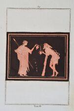 Griechische Mythologie Vasen Greek Mythology Vases ca 1850 Original Wein 39