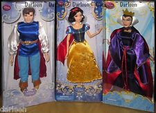 Disney Store Classic SNOW WHITE Prince & Evil Queen Dolls barbie type
