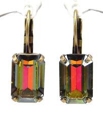 SoHo® Ohrringe Ohrhänger vintage bronze altgold 1960´s Kristall crystal volcano
