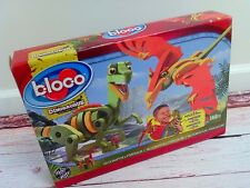New BLOCO DINOSAURUS SERIES Build a Velociraptor & Pterosaur ages 5-10