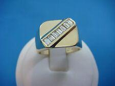 14K YELLOW GOLD 0.75 CARAT T.W. BAGUETTE DIAMONDS HIGH END MEN'S RING, 10 GRAMS