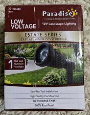PARADISE Low Voltage Landscape light Cast Aluminum 20W Halogen Spotlight black