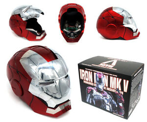 Marvel Iron Man MK5 1:1 Wearable ABS Helmet Mask Voice Control Cosplay Toy Gift