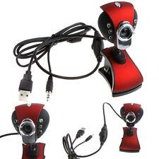 50.0 Mega Latop Desktop HD Webcam Camera USB Adjustable Focal Length True Red