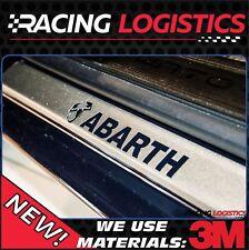 FIAT 500X 500L ABARTH Seuils ALUMINIUM brossé 3D ABARTH POP Lounge Sport Cross T