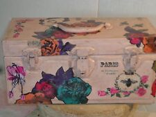 Antique/vintage metal storage, treasure, painted tool box