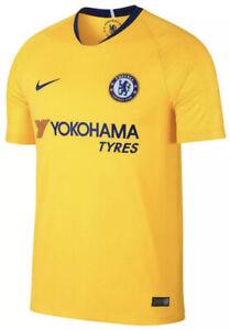 Nike Chelsea FC Jersey Mens Size Medium Soccer Yellow Shirt Futbol Yokohama