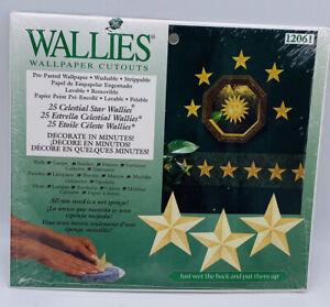 Wallies Celestial Star Wallpaper Cutouts New #12061 25 Gold Stars New