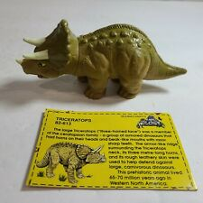 """1992 Land of The Lost 2.5"""" Triceratops Dinosaur Figure Krofft Tiger"""