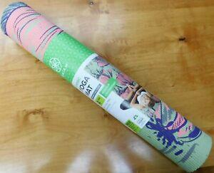 Gaiam Classic Yoga mat 4mm non-slip lightweight flower design