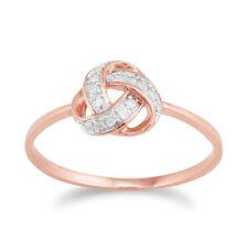 Diamond Not Enhanced Rose Gold Fine Rings