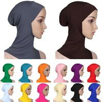2016 Fashion Cotton Muslim Inner Hijab Caps Islamic Underscarf Hats Ninja Hijab