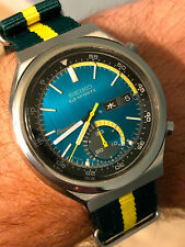 Near NOS Seiko 5 Sports 6139-7060 Vintage Speedtimer Automatic Sunrise with NATO