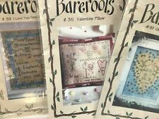 BAREROOTS CRAFT PATTERNS HAND STITCHERY PILLOW PATTERNS FRAMED ART PATTERNS