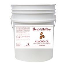 Best of Nature 100% Pure Almond Massage & Carrier Oil - 5 Gallon Pail (640oz)