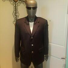 Canali for Saks Men's Black Blazer Wool 42R (BA151)