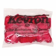 KEVRON KID-5 Bag Of 50 RED Plastic Click Key Tags-FREE POST-LQQK! ID5 KID5RED