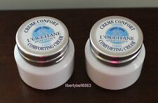 2 x L'Occitane Shea Butter Light Comforting Cream 0.28 oz (8ml) Each ~New