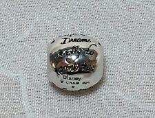 "CHAMILIA STERLING SILVER 925 ""DREAMS REALLY DO COME"" TRUE DISNEY CHARM BEAD"
