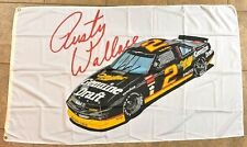 Rusty Wallace #2 Miller  NASCAR racing 3x5  Driver Flag Banner vintage
