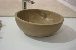 Travertine Natural Stone  Basin/ Bowl For Bathroom Design