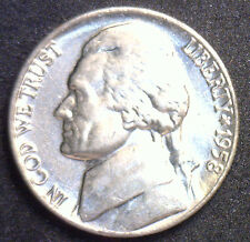 1958 Jefferson Nickel Uncirculated Five Cents BU Coin 5c