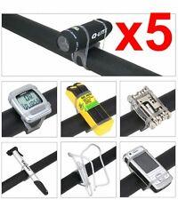 Lote de 5 Soportes Universal de Silicona Accesorio Bicicleta Linterna GPS Movil