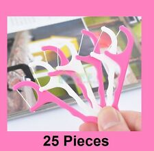 25x Dental Floss Flossers Toothpick Oral Care Reduce Tooth Plaque Clean Debris