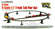 Bachmann 44872 N E-Z TRACK 8 PIECE TALL PIER SET Train Piers EZ Accessory New I