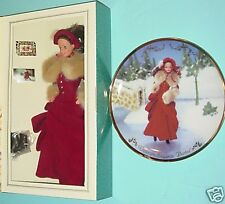 Mattel Victorian Elegance Barbie DOLL & COA PLATE NRFB