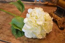 Cream Faux Silk Hydrangea, Individual Off White Ivory Artificial Flower