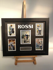 UNIQUE PROFESSIONALLY FRAMED, SIGNED VALENTINO ROSSI PHOTO COLLAGE WITH PLAQUE.